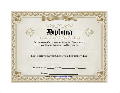templates of certificates and diplomas diploma certificate template 25 free word pdf psd