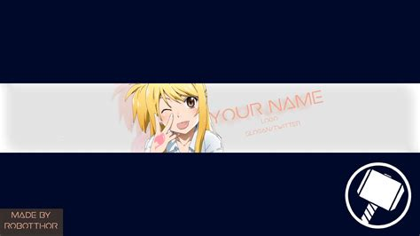 dafont earth orbiter free youtube banner template anime fairy tail youtube
