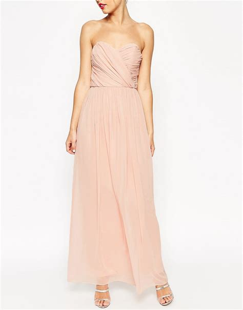 asos asos wedding bandeau maxi dress at asos