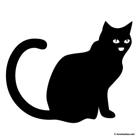black cat template printable decoration stencils and templates vol 2 how to
