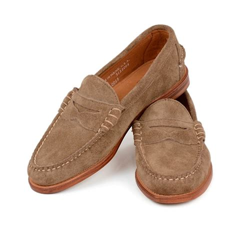 rancourt beefroll loafer rancourt co beefroll loafers taupe suede