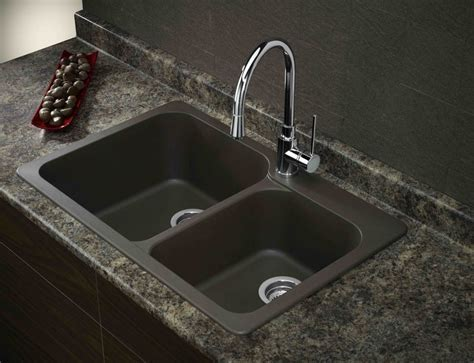 Composite Kitchen Sinks Masculine Black Kitchen Double