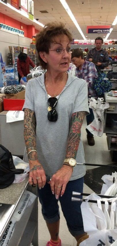 old tattooed lady with sleeves tattoos tattoos