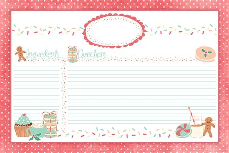 6 best images of cute printable recipe cards strawberry cute holiday recipe card printable for you plus some sweet