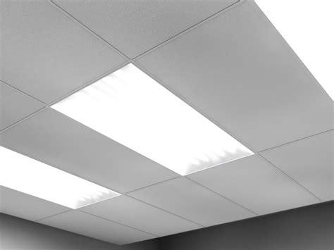 Drop Ceiling Fluorescent Light Fixtures 2x4 2 Fluorescent Light Troughs 3d 3ds