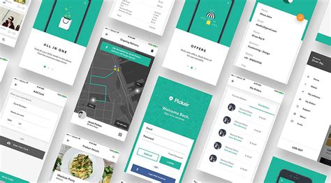 Ios Ui Kit For Delivery And Shopping Apps Ios App Ui Templates