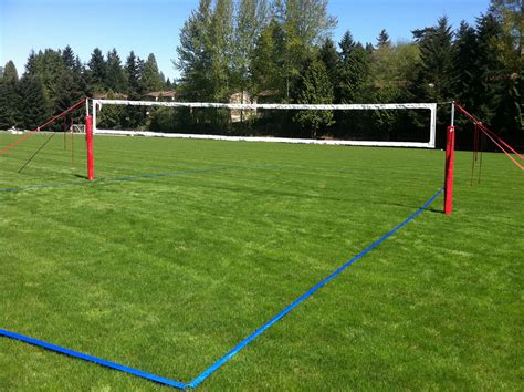 backyard volleyball grass court construction