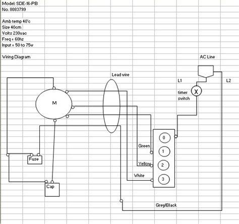 edmat electric fan wiring diagram