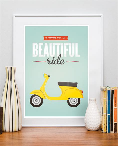 Desk Pop Quote by Modern Vespa Vespa Decor