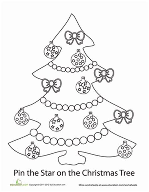 christmas tree activity book printable pin the star on the christmas tree worksheet education com