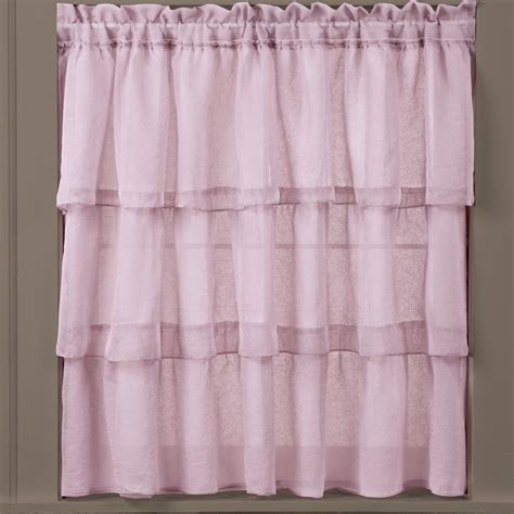 Ruffled Window Curtains Collections Etc Ruffled Tiered Sheer Window Curtains Ebay