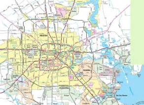 houston map of houston area road map