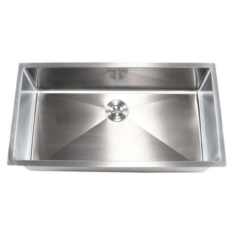 stainless steel single bowl kitchen sink ariel 36 inch stainless steel undermount single bowl