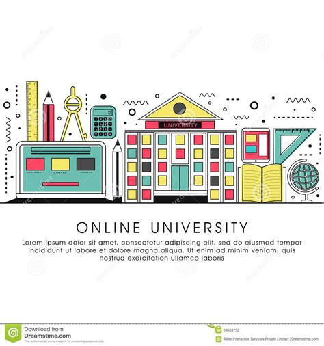 design online university online university stock image cartoondealer com 24717649