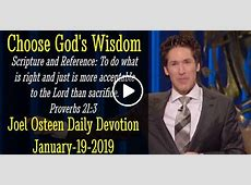 Joel Osteen (January-19-2019) Daily Devotion: Choose God's ... Joel Osteen Login
