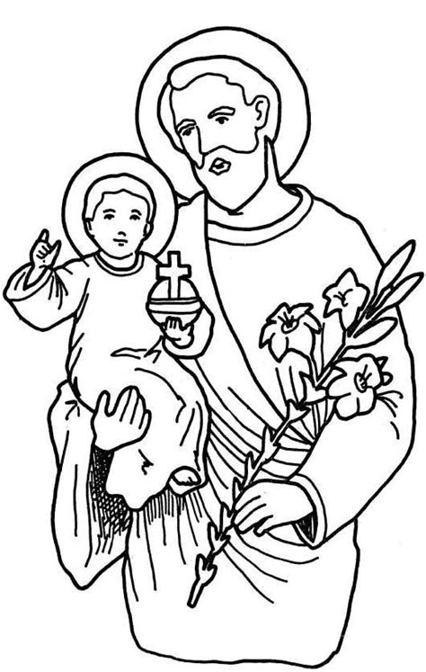 coloring pages st joseph mar 19 st joseph coloring page religione pinterest