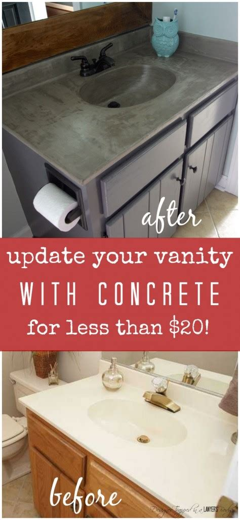 diy bathroom vanity update seriously amazing diy vanity update using a concrete