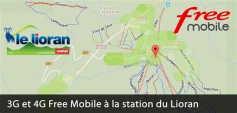 3g et la 4g free mobile 224 la station de ski du lioran