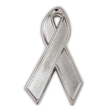 Ribbon Silver silver ribbon lapel pin ribbon pins silver awareness