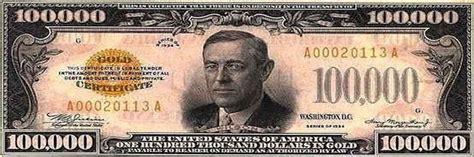 100 000 Dollar In Der 100 000 Dollar Bill Bookmark And 50 Similar Items
