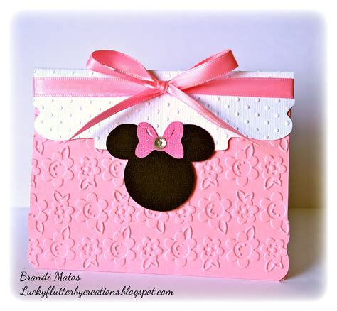 Minnie Mouse Handmade Invitations - lucky flutterby creations handmade minnie mouse invitations