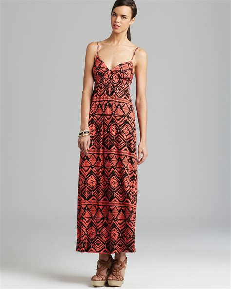Id 0207 Ethnic Print Dress aqua maxi dress tribal print bloomingdale s