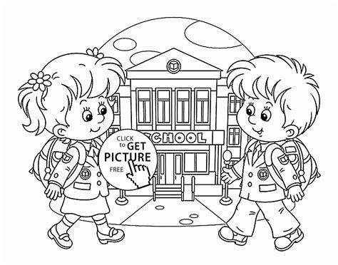 first day of school coloring page for kids educational