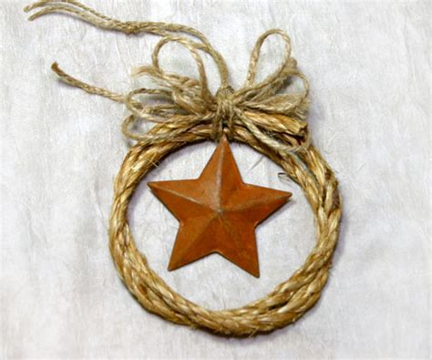 country western cowboy rope christmas ornament with a