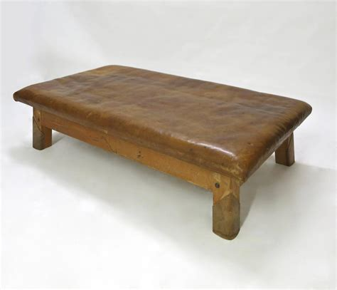 vintage leather bench vintage leather gym bench or table circa 1940 for sale at