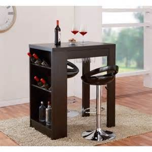 Furniture of america miura modern cappuccino multi storage bar table