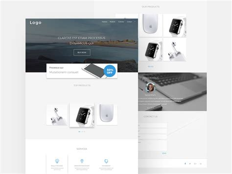 Simple Landing Page Template Free Psd 72pxdesigns Simple Landing Page Template