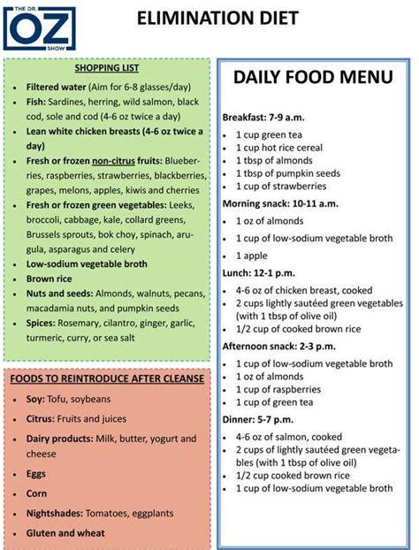 Elimination Diet Detox Symptoms best 25 dr oz diet ideas on dr oz dr oz
