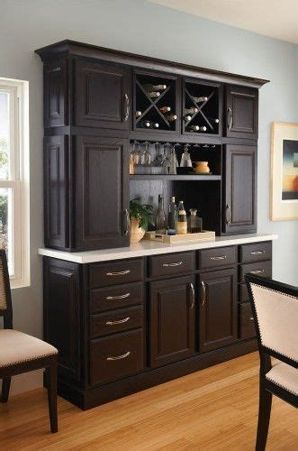 waypoints style sin oak espresso wine storage dining room hutch kitchen hutch cabinet