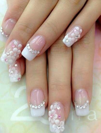 imagenes de unas acrilicas french nail u as acrilicas decoradas 2353672 weddbook