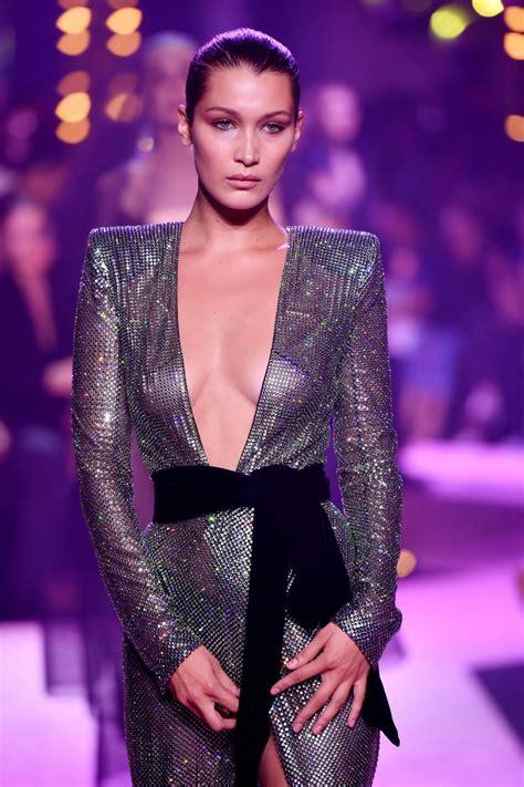 bella hadid bella hadid runway walk alexandre vauthier show in paris