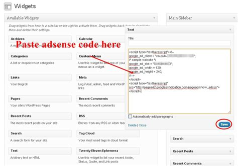 adsense js code how to add google adsense codes in wordpress posts and