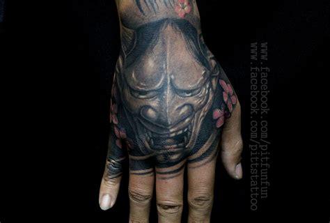 hannya mask tattoo forearm hannya mask tattoo by pit fun fun www facebook com