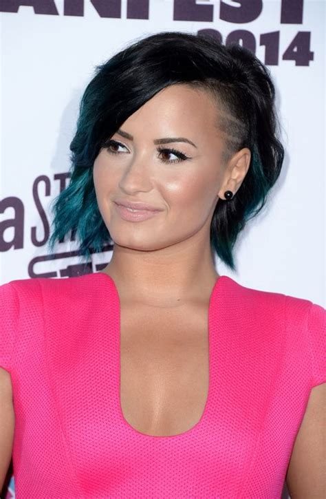demi bob hairstyles demi lovato bob with shaved side short hair don t care