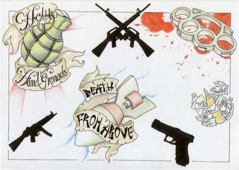 tattoo flash gun gun tattoos by thestok13 on deviantart