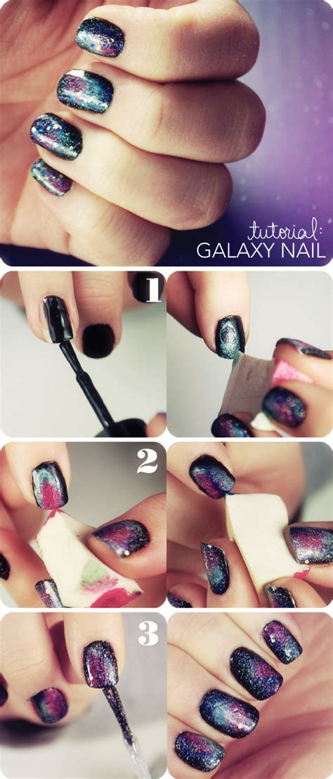 tutorial nail art galaxy galaxy nail tutorial beautylish