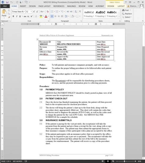 non emergency manual template non profit policies and procedures template