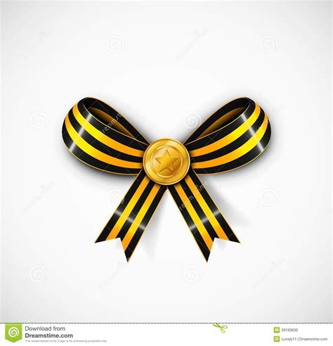 st ribbon st george ribbon stock photo image 29160630