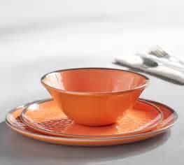 pottery barn melamine dinnerware swirl melamine dinnerware orange pottery barn