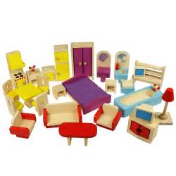 House Furniture Dolls House Furniture Set In Wood Bigjigs Jt116 Suitable