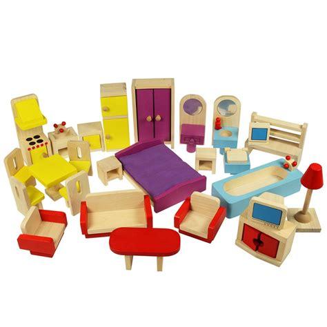 dolls house furniture set in wood bigjigs jt116 suitable