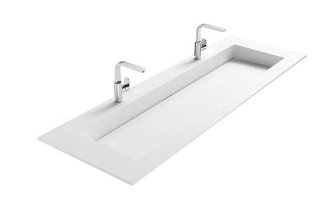 lade specchio bagno design mat witte wastafel solid surface wastafel is 160cm