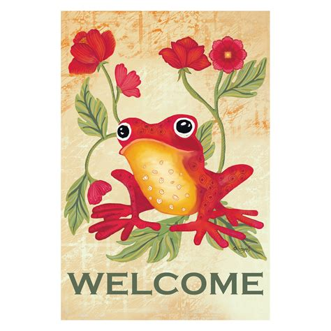 Toland Home Garden Welcome Bunny Flower Frogs Flags Windsocks Compare Prices At Nextag