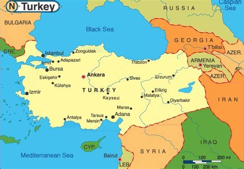 turkey map europe istanbul map of europe