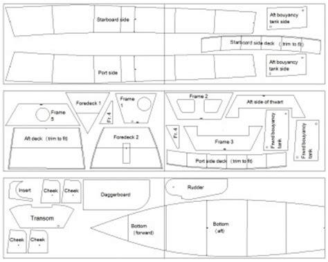 dory catamaran hull design nested panels for the stitch and glue ella skiff