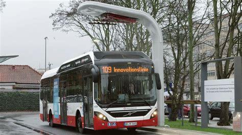 volvo  electric hybrid bus hamburg youtube